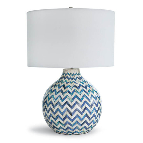 Bone Indigo Chevron Lamp