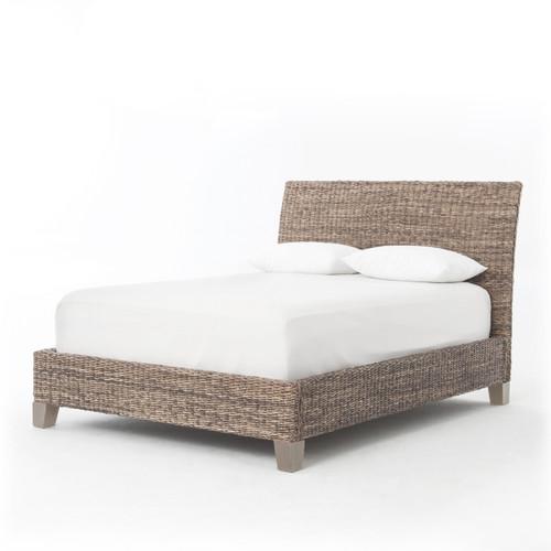 Grey Banana Leaf Bed - King