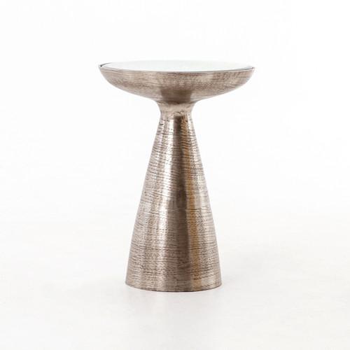 Nickel Pedestal Table