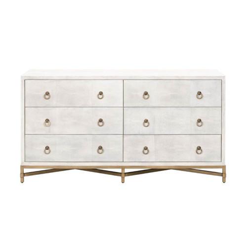 White Shagreen Dresser