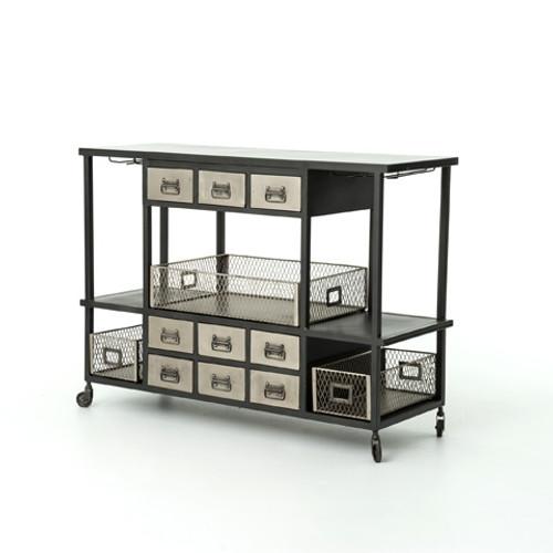 Nickel Bar Cart