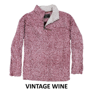 True Grit Frosty Tipped 1/4 Zip Pullover in Vintage Wine