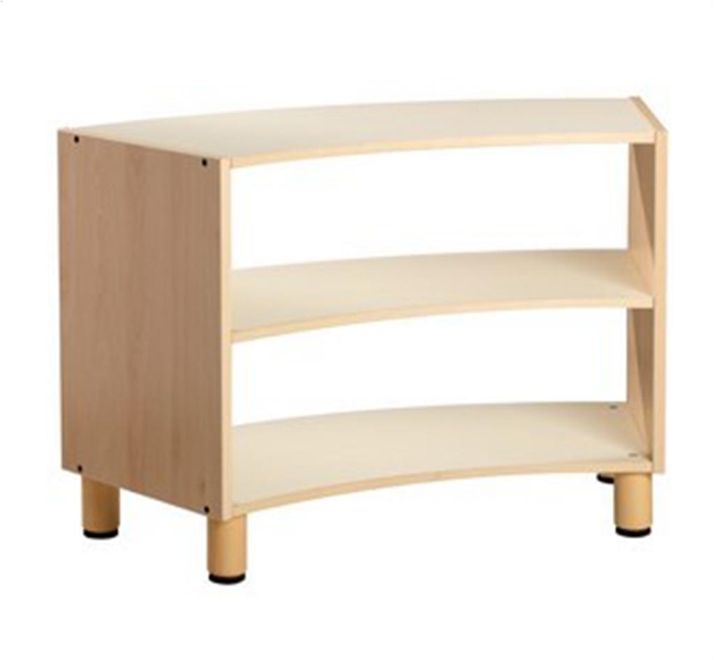 Curved cabinet 3 shelves