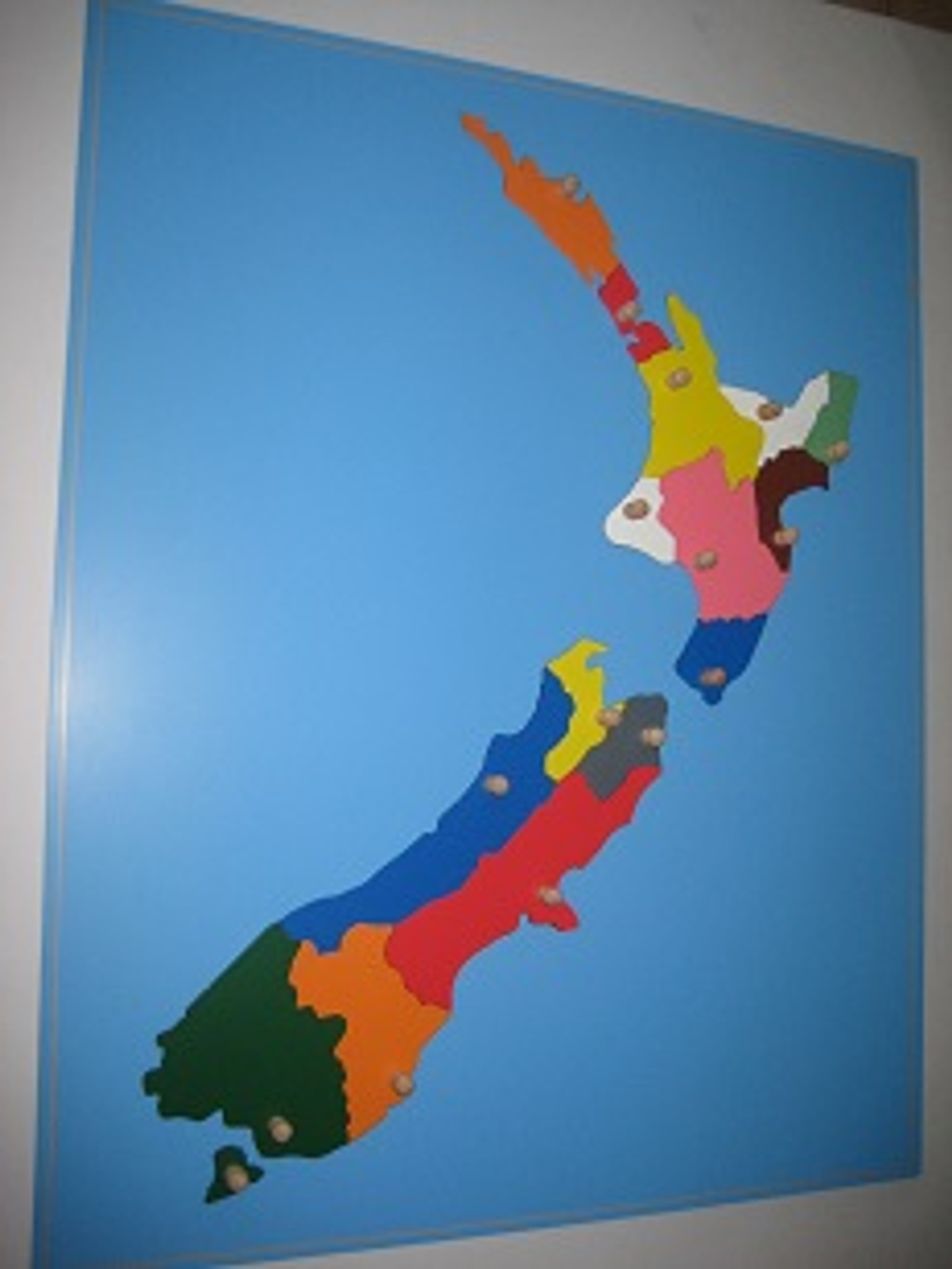 New Zealand Puzzle Map