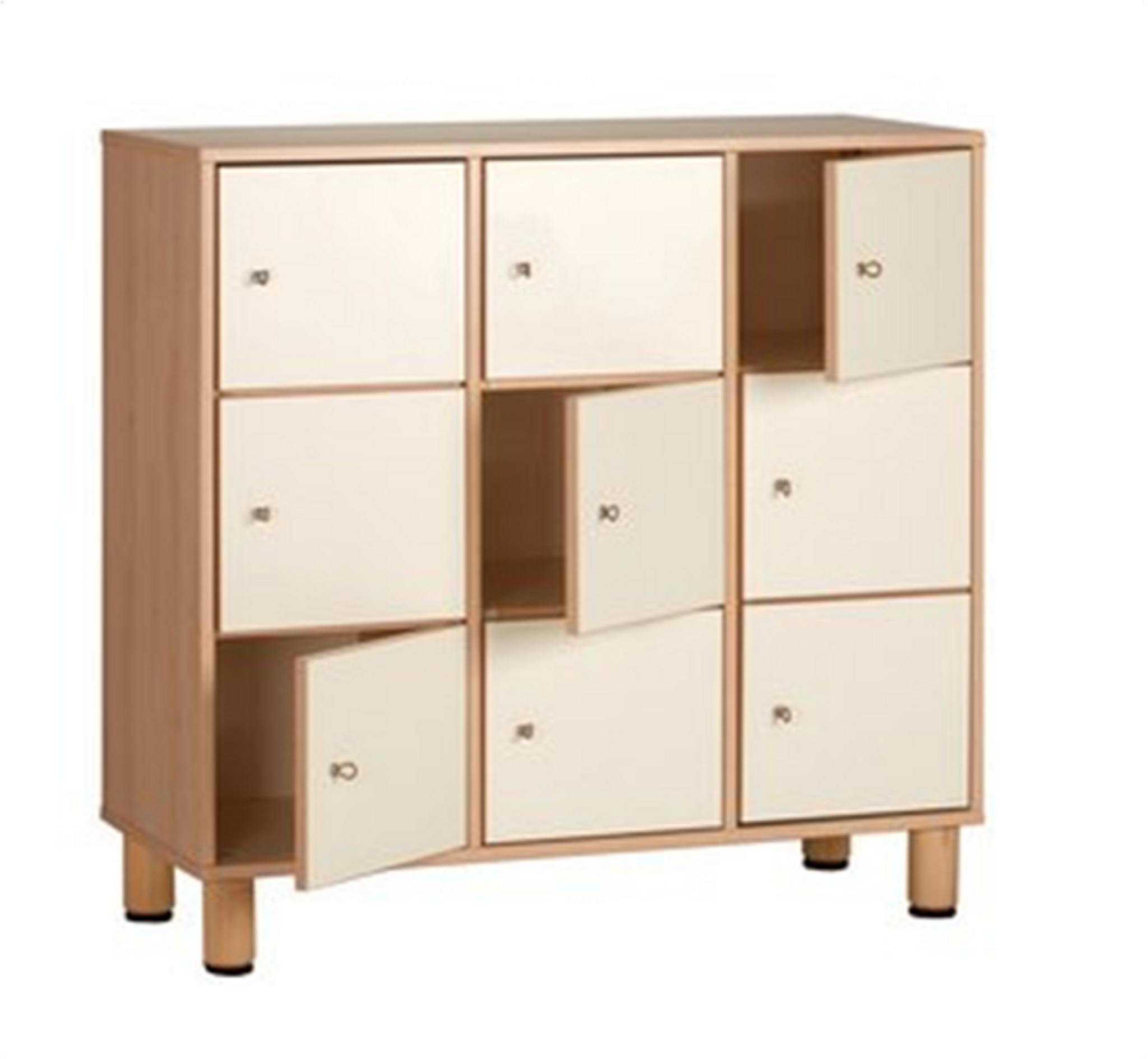 9 door dressing cabinet 105x41x100cmH