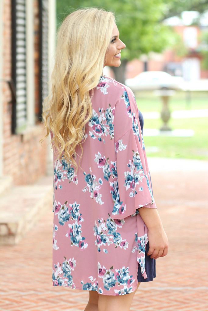 New Perspective Kimono: Mauve