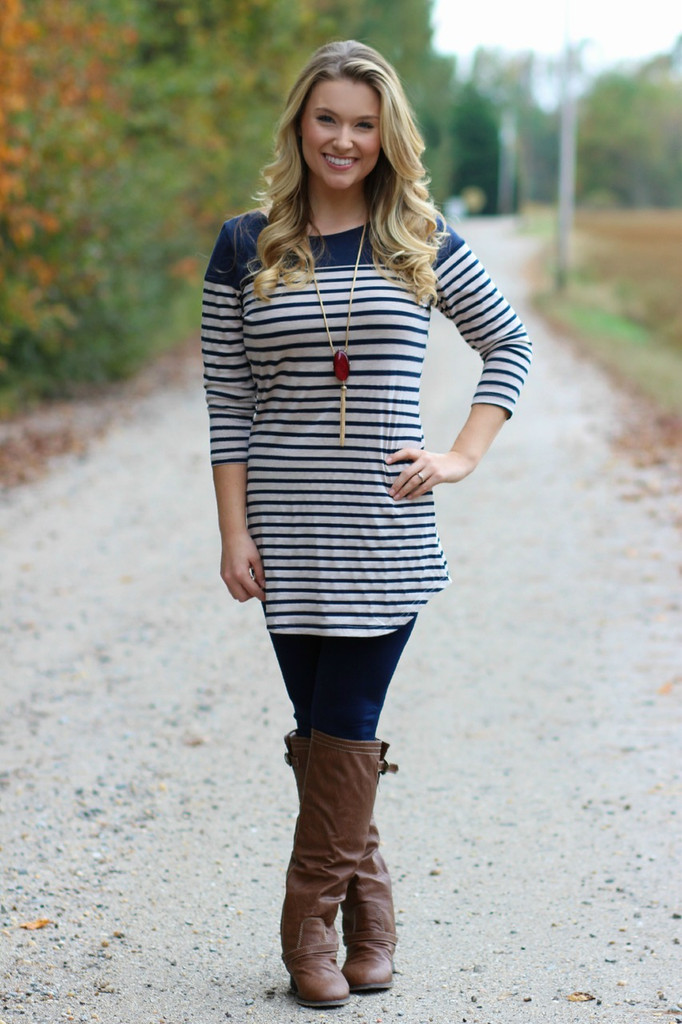 Let It Go Tunic: Navy