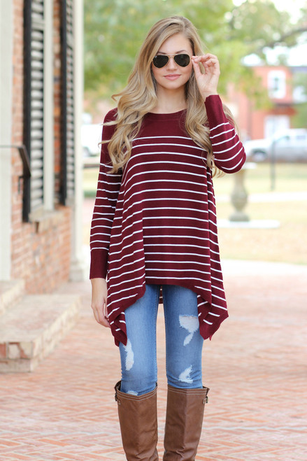 A Day With You Top: Burgundy