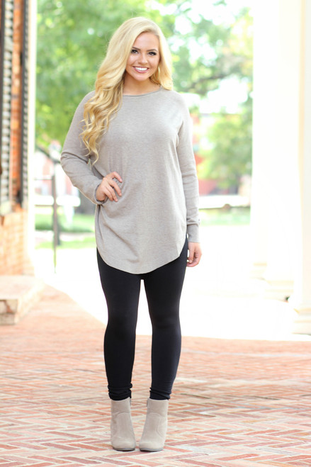 Too Cozy Tunic: Mocha
