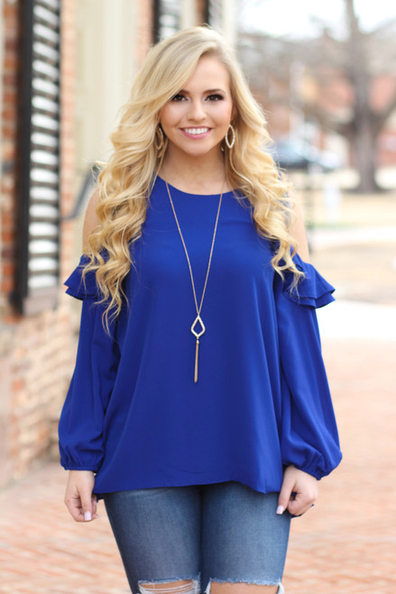 Perfect Bliss Shift Top: Royal