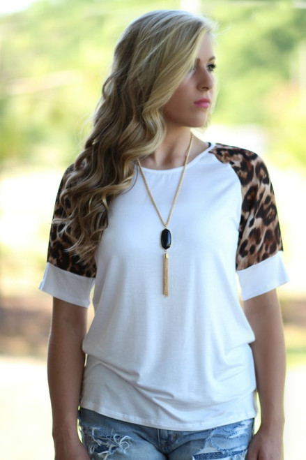 Told You So Top: Ivory/Leopard