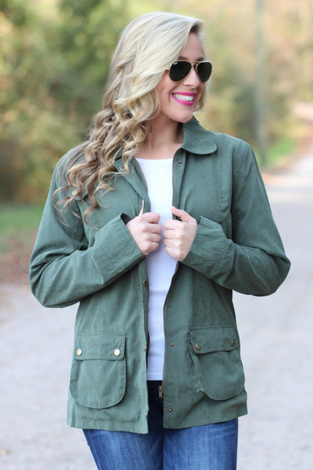 Seasons Change Jacket: Olive