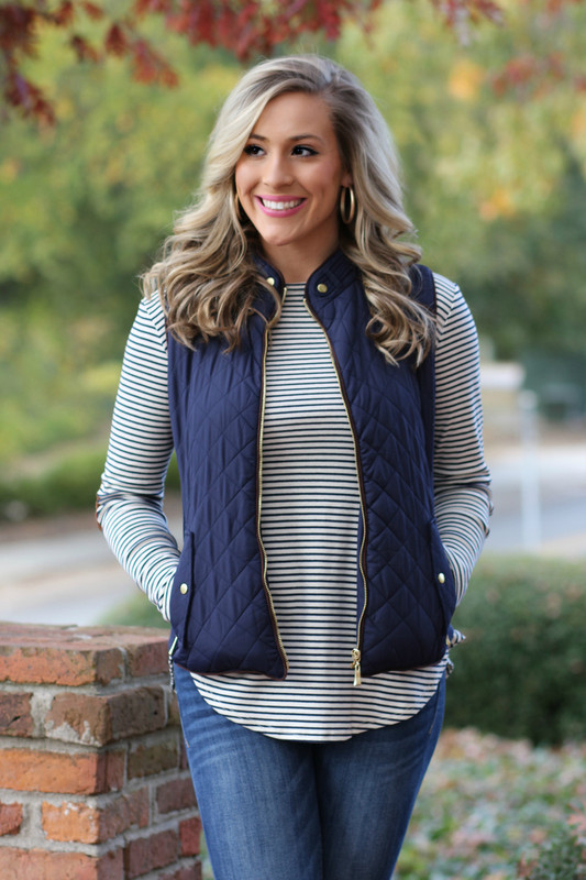 Perfect For Me Vest: Navy