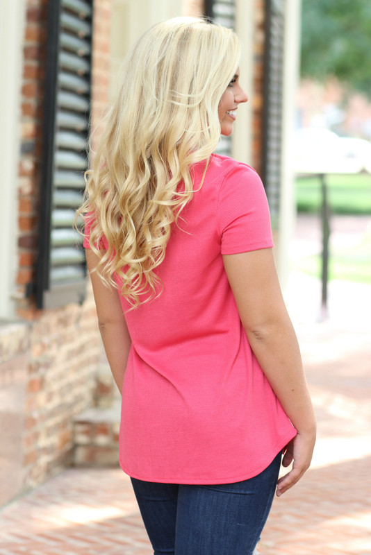 Criss Cross Top: Coral