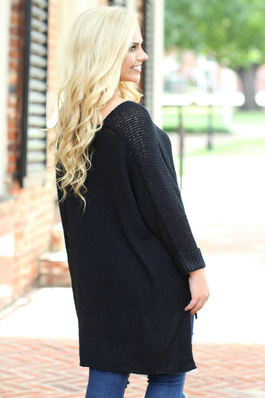 Oversized Sweater: Black