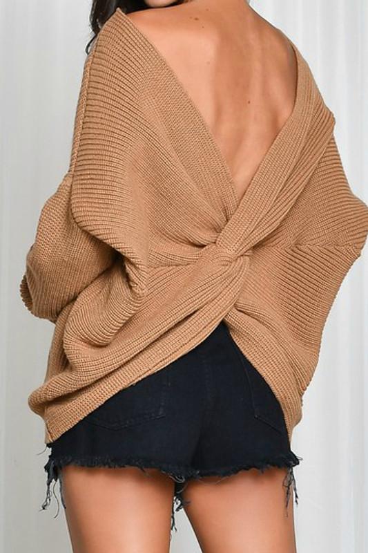 Twist Sweater: Toffee
