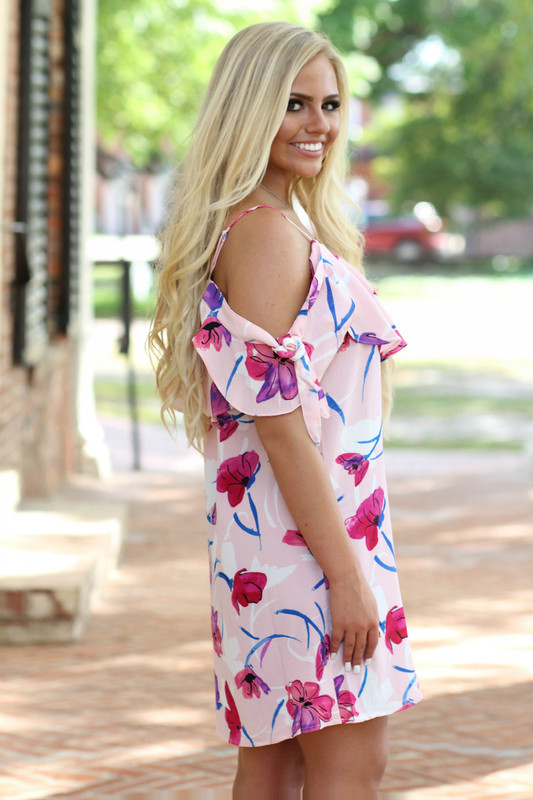 Paradise Shift Dress: Pink