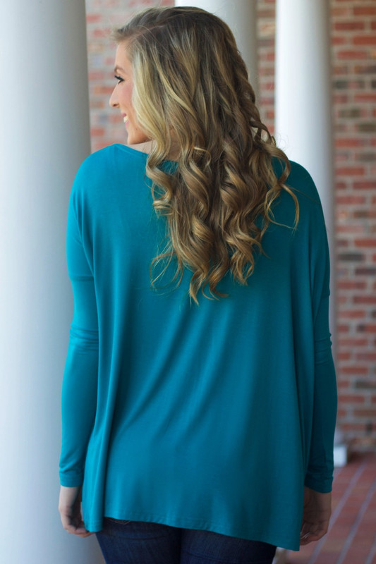 Piko Long Sleeve Top: Teal