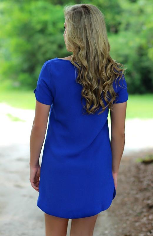Royal   Shift Dress   Boutique Dress   Lavish Boutique