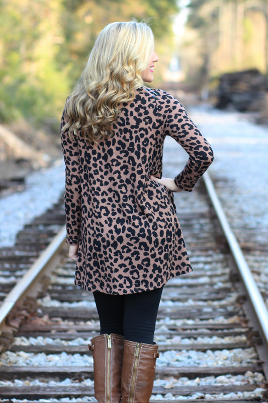 Nothing Like You Tunic: Leopard