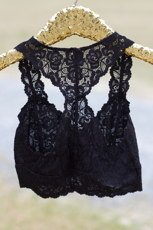 Lace Bralette: Black