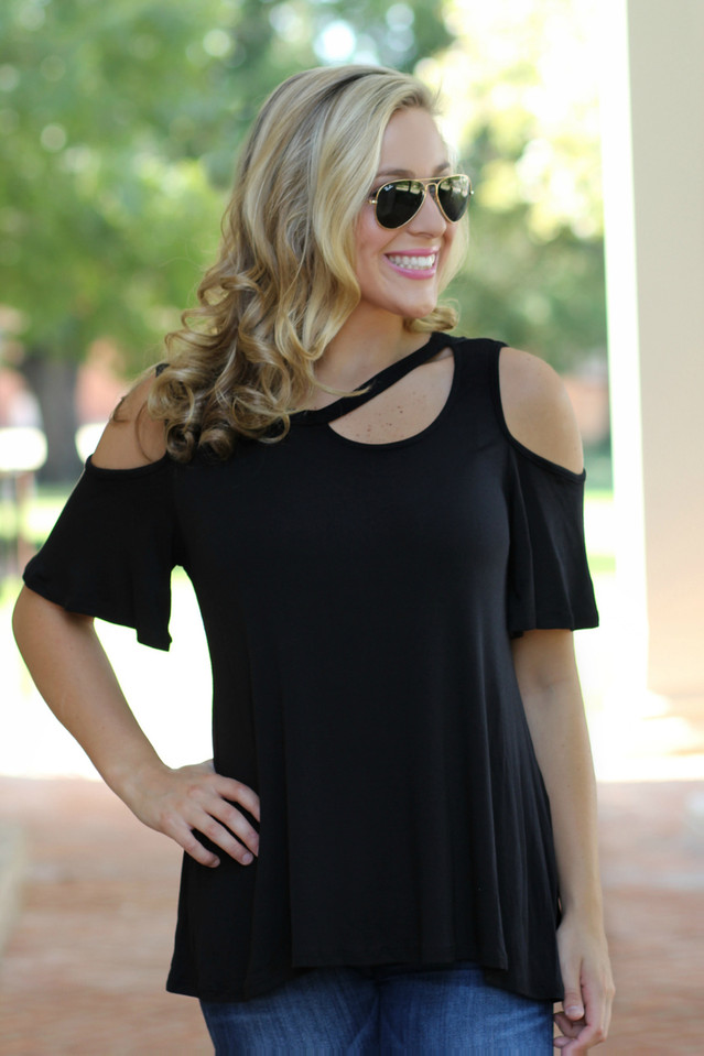 It's That Simple Top: Black