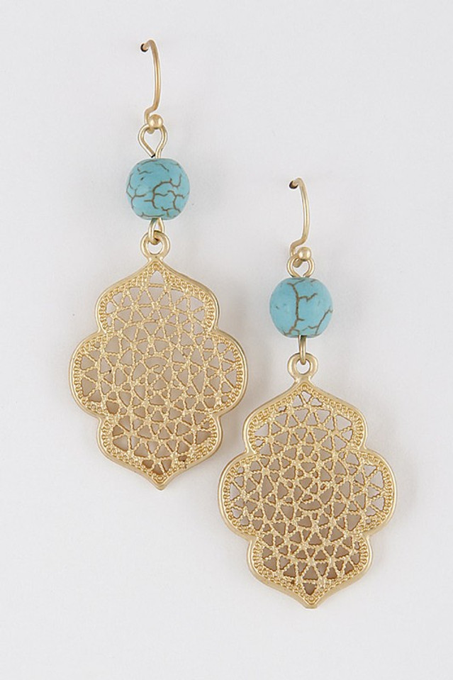 Drops Of Jupiter Earrings: Turquoise