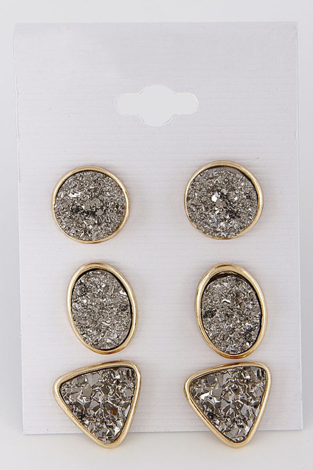 I Choose You Earring Set: Smoke
