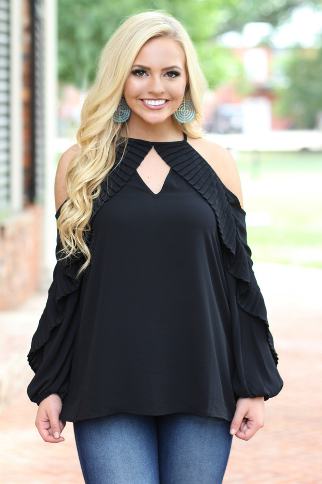 Girl's Getaway Shift top: Black