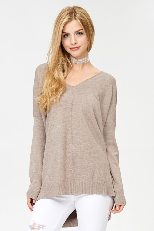 Butter Tunic Sweater: Mocha