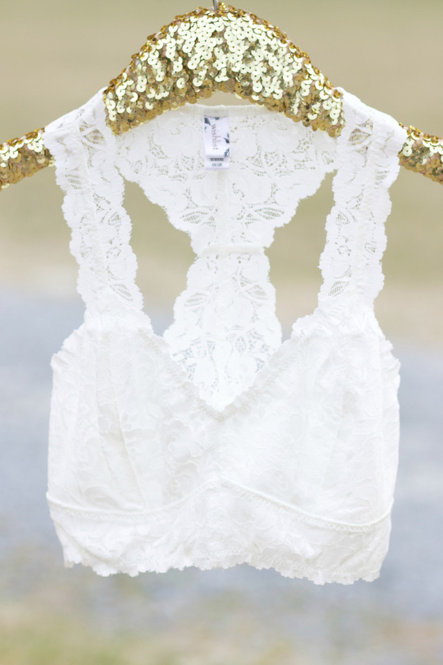 Lace Bralette: Ivory