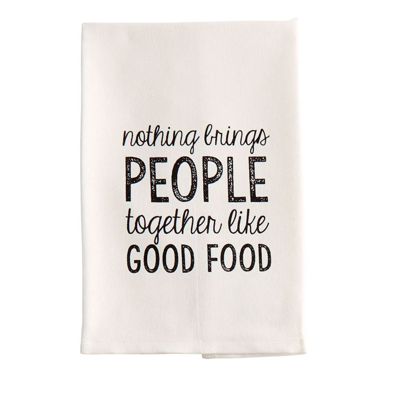 Add Some Humor To Your Kitchen With This Mud Pie Woven Cotton Hand/dish  Towel