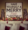 Have yourself a merry little christmas framed sign