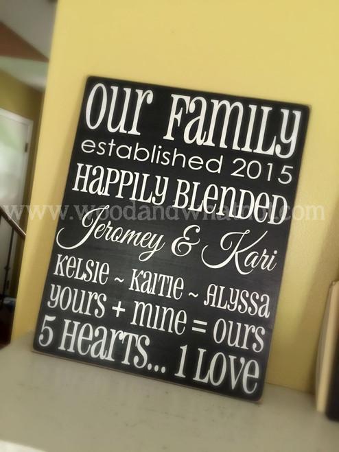 Blended family sign