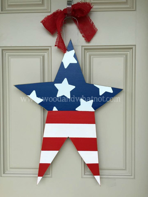 Patriotic Star Door Hanger
