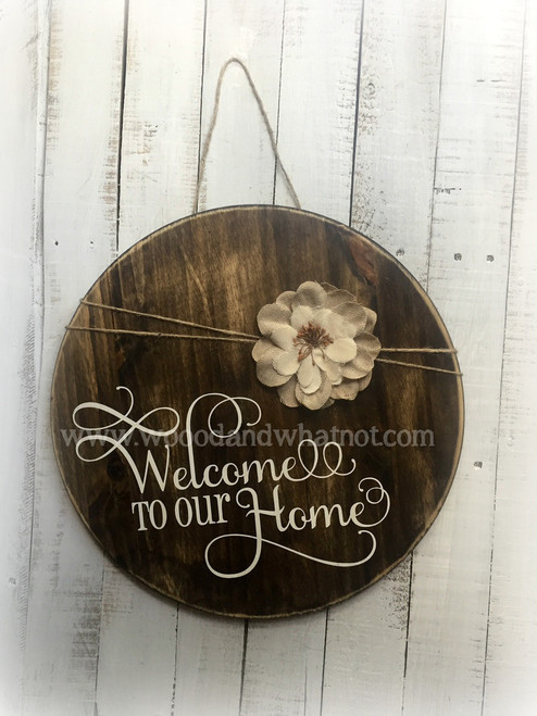 Welcome to our home (round)
