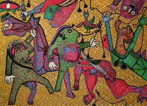 GUERNICA DETAIL BY ENRICO BAJ