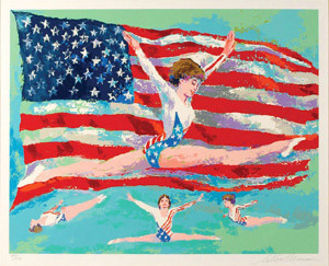GOLDEN GIRL BY LEROY NEIMAN
