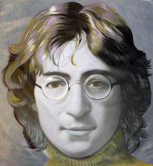 JOHN LENNON (BLUE AND PURPLE) GIANT BY STEVE KAUFMAN