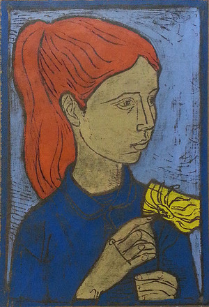 YOUNG GIRL BY IRVING AMEN