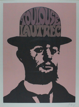 TOULOUSE LAUTREC - PINK BY PETER MAX