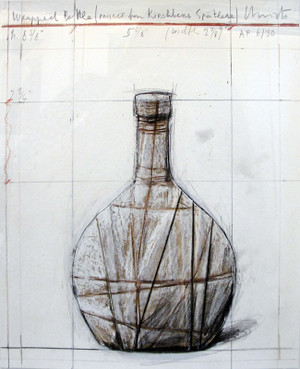 WRAPPED BOTTLE BY CHRISTO AND JEANNE-CLAUDE