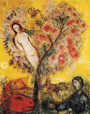 TREE OVER VILLAGE BY MARC CHAGALL