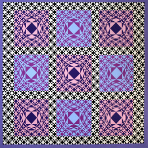 PURPLE SQUARES BY VICTOR VASARELY