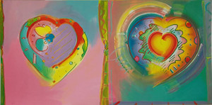 HEARTS II BY PETER MAX