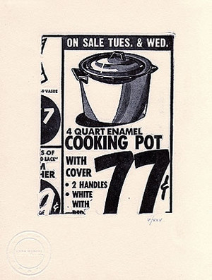 COOKING POT BY ANDY WARHOL