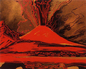 VESUVIUS (RED) II.365 BY ANDY WARHOL