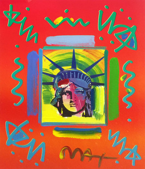 LIBERTY HEAD II (OVERPAINT) BY PETER MAX