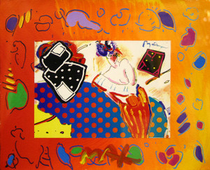 RISING SUN COLLAGE 2 BY PETER MAX