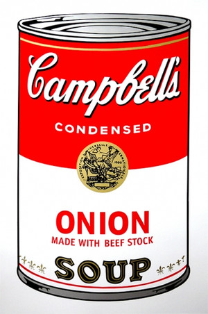 ONION - CAMPBELL SOUP CAN BY ANDY WARHOL FOR SUNDAY B. MORNING